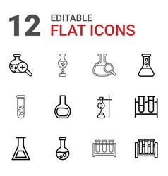 12 beaker icons vector