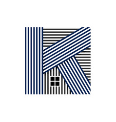 abstract art k letter realty vector image