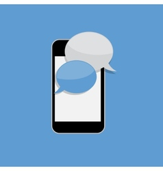 Abstract Design Flat Mobile Phone with Speech vector