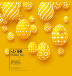 abstract easter yellow background vector image