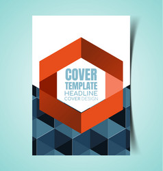 Abstract report cover6 vector