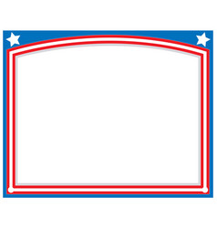 American abstract flag symbolic frame vector