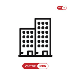 apartment icon vector image