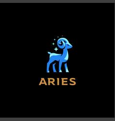 Aries goat ram vector