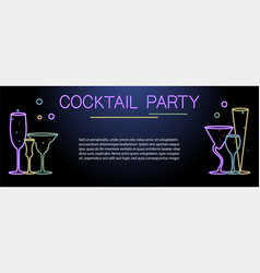 banner template for night cocktail party vector image