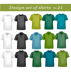 big design set shirts 21 vector image vector image