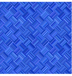 blue abstract repeating diagonal stripe mosaic vector image