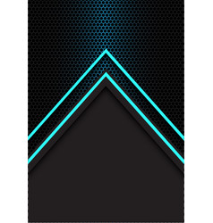 blue arrow light direction hexagon mesh vector image