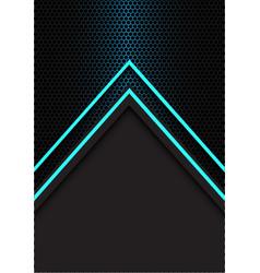 Blue arrow light direction hexagon mesh vector