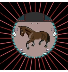 Brown horse vector image