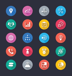 Business simple color icons vector