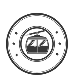 Cableway emblem isolated icon vector
