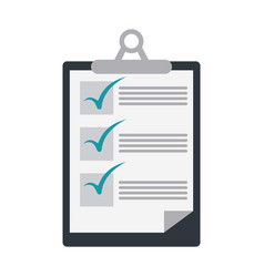checklist on clipboard icon image vector image