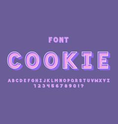 Cookie font alphabet vector