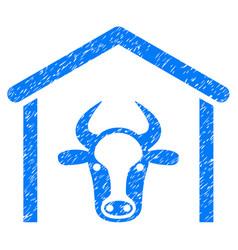 Cow garage icon grunge watermark vector