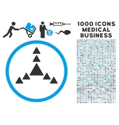 Direction Triangles Icon with 1000 Medical vector