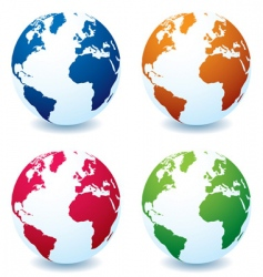 earth globe variation vector image