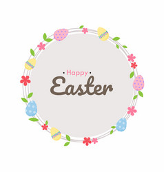 easter egg hunt poster cute invitation card vector image
