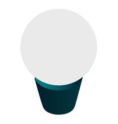 economy bulb icon isometric style vector image
