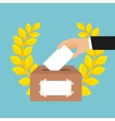 election vote design vector image