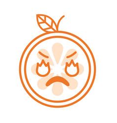 emoji - furious orange isolated vector image