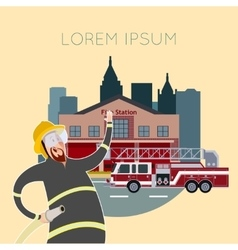 Fire station banner9 vector