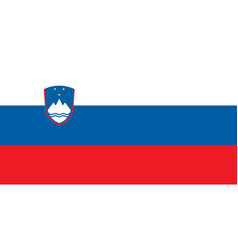 Flag of slovenia official colors and proportions vector