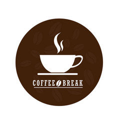 Flat coffee logo designcoffee logo isolated on vector