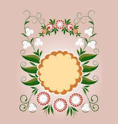 Floral card spring floral frame vector