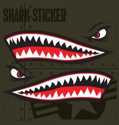 Flying tiger shark mouth sticker vinyl 5 vector