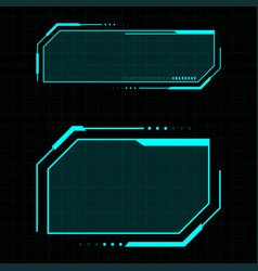 futuristic user interface vector image