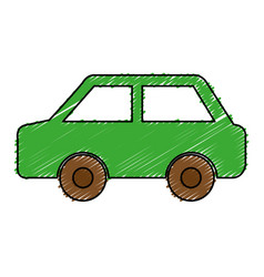 Green car ecology symbol vector