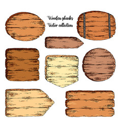 hand drawn sketch wooden plank vector image