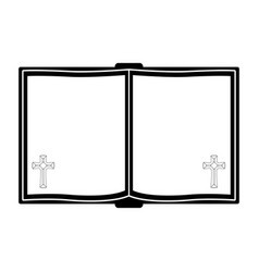 holy bible silhouette vector image