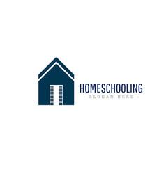 Home schooling logo icon template design vector