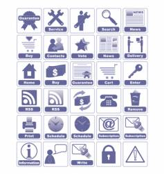 icons for internet and website vector image vector image