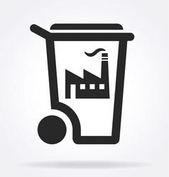 Industrial factory waste symbol vector