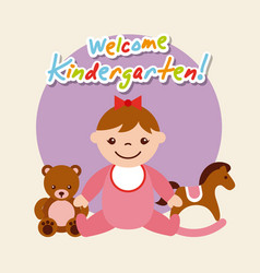 kinder garten cartoon vector image