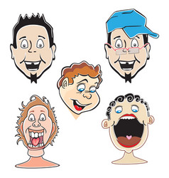 Laughing guys vector