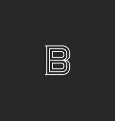 Letter b logo medieval monogram initial vector