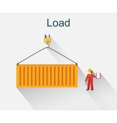 Load Container Icon Design Style vector image