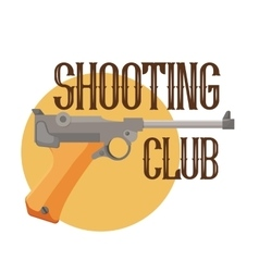 Logo shooting club vector