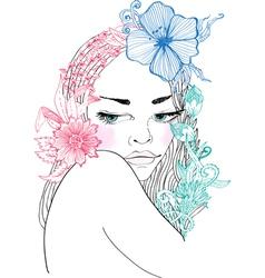 may girl vector image