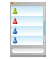 messenger browser vector image
