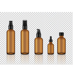 Mock up realistic glossy amber transparent glass vector