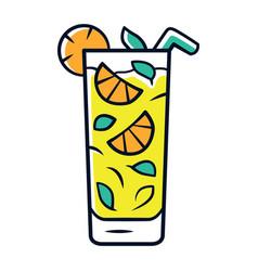Moxito color icon mojito cocktail in highball vector