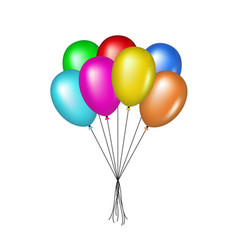 Multicolored glossy balloons for celebration vector