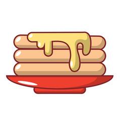 Pancakes icon cartoon style vector
