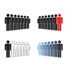 people group icon set working group team with vector image