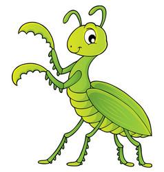 Praying mantis theme image 1 vector